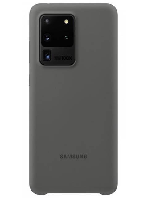 Чехол для Samsung Galaxy S20 Ultra Silicone Cover Grey EF-PG988TJEGRU