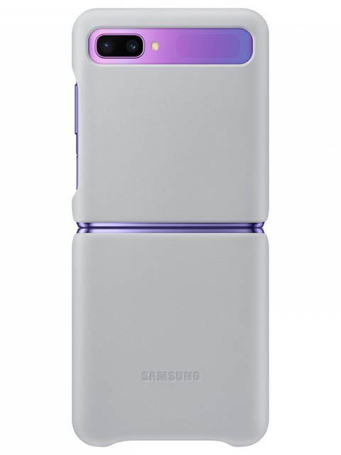 Чехол для Samsung Galaxy Z Flip Leather Cover Light Grey EF-VF700LSEGRU)