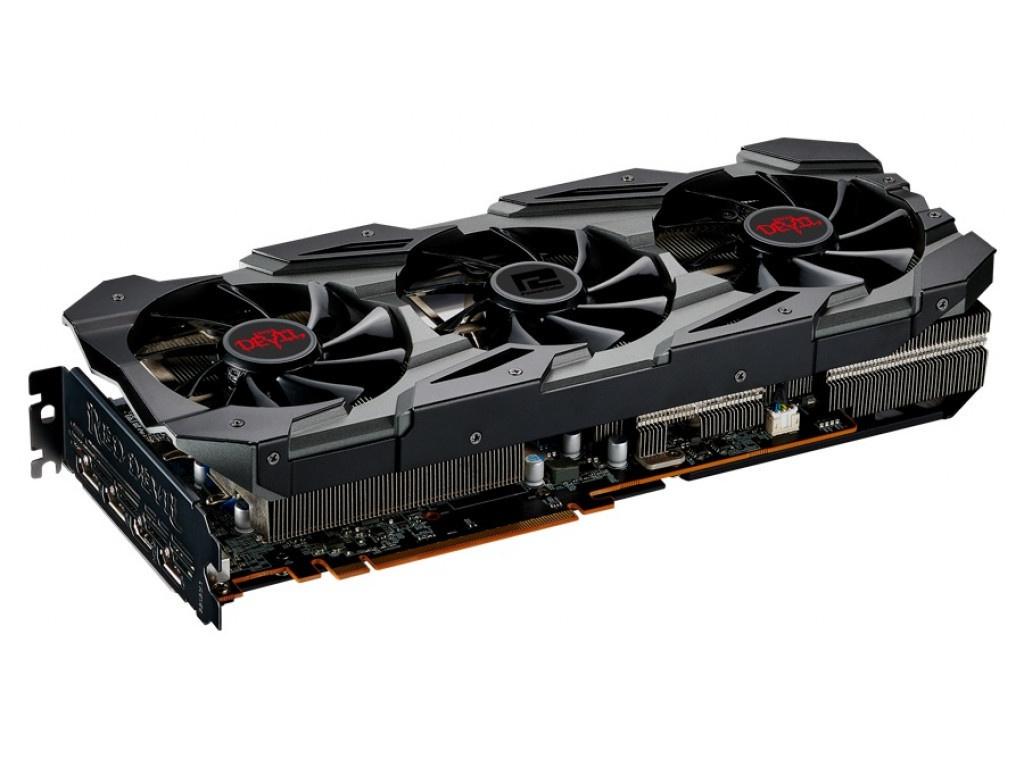 Видеокарта PowerColor Radeon RX 5700XT 1770MHz PCI-E 4.0 8192Mb 14000Mhz 256 bit HDMI 3xDP AXRX 8GBD6-3DHE/OC
