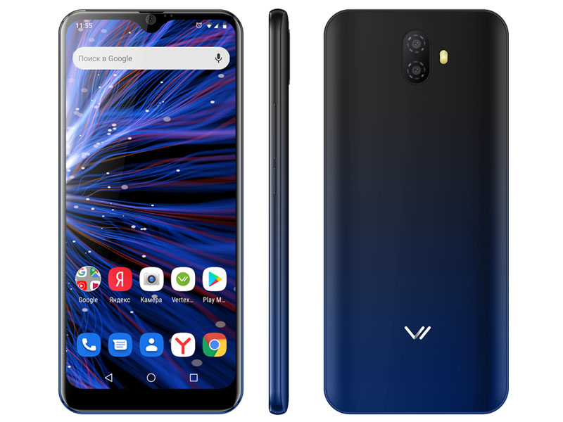 Сотовый телефон VERTEX PRO P300 Blue сотовый телефон vertex impress stone lte graphite