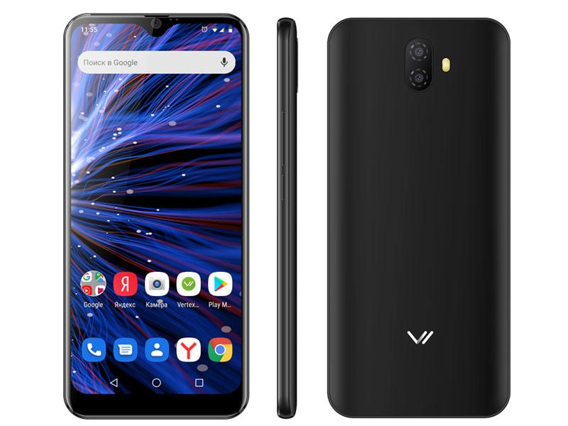 Сотовый телефон VERTEX PRO P300 Black сотовый телефон vertex impress stone lte graphite