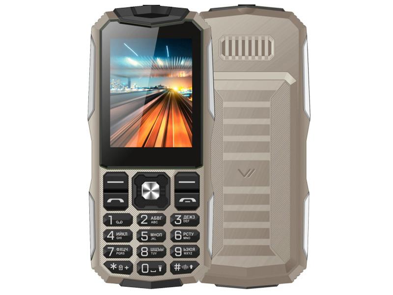 Сотовый телефон Vertex K213 Sand-Silver телефон