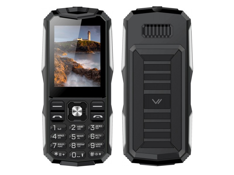 Сотовый телефон VERTEX K213 Black-Silver сотовый