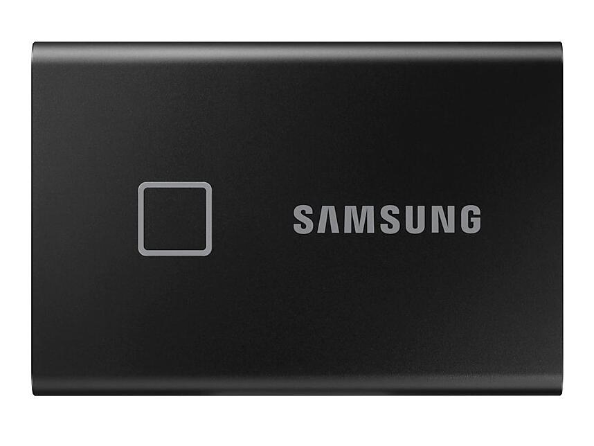 Фото - Твердотельный накопитель Samsung External SSD 500Gb T7 Touch PCIe USB3.2/Type-C Black MU-PC500K/WW внешний диск ssd samsung t7 touch mu pc2t0s ww 2тб серый