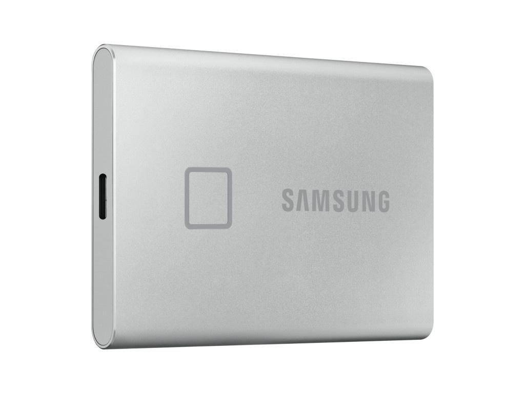 Фото - Твердотельный накопитель Samsung External SSD 500Gb T7 Touch PCIe USB3.2/Type-C Silver MU-PC500S/WW hp 250 [1ka00ea] silver 15 6 fhd i5 7200u 4gb 500gb r5 m1 30 2gb dvdrw dos bag