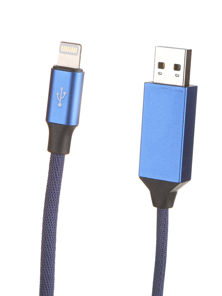 Аксессуар Baseus Artistic Striped USB - Lightning 5m Blue CALYW-M03