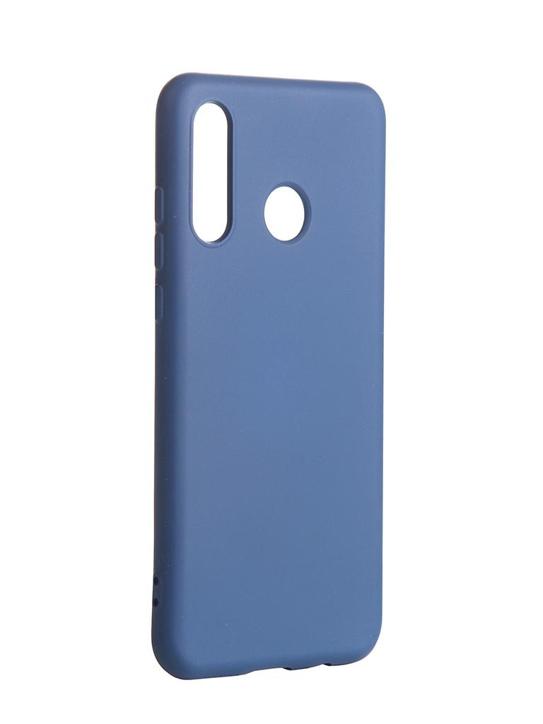 Чехол DF для Huawei P30 Lite/Honor 20S/Honor 20 Lite с микрофиброй Silicone hwOriginal-09 Blue