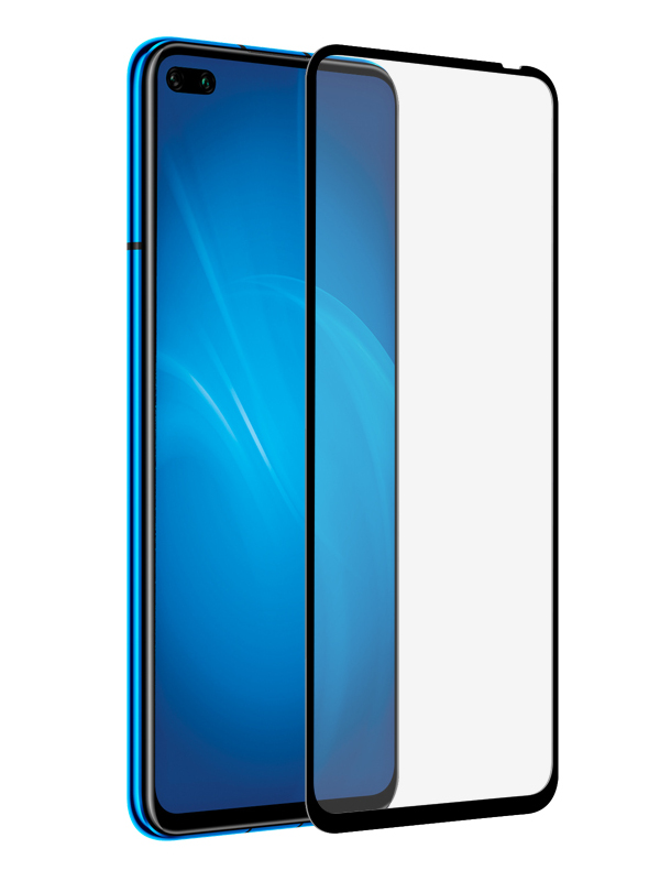 Закаленное стекло DF для Honor View 30 Pro/V30 Pro Full Screen + Glue hwColor-113 Black Frame