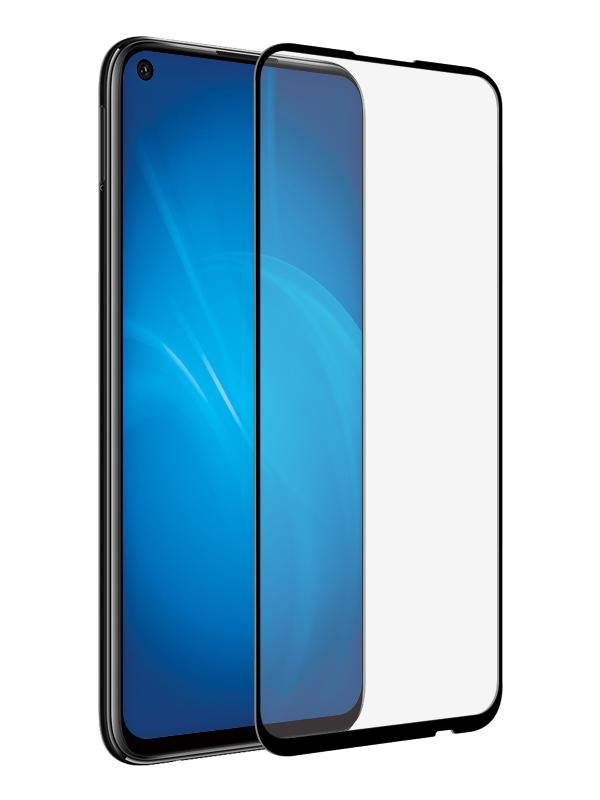 Закаленное стекло DF для Huawei P40 Lite E Full Screen + Glue hwColor-112 Black Frame