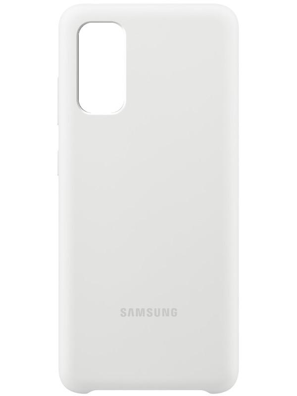 Чехол для Samsung G980 Galaxy S20 Silicone Cover White EF-PG980TWEGRU