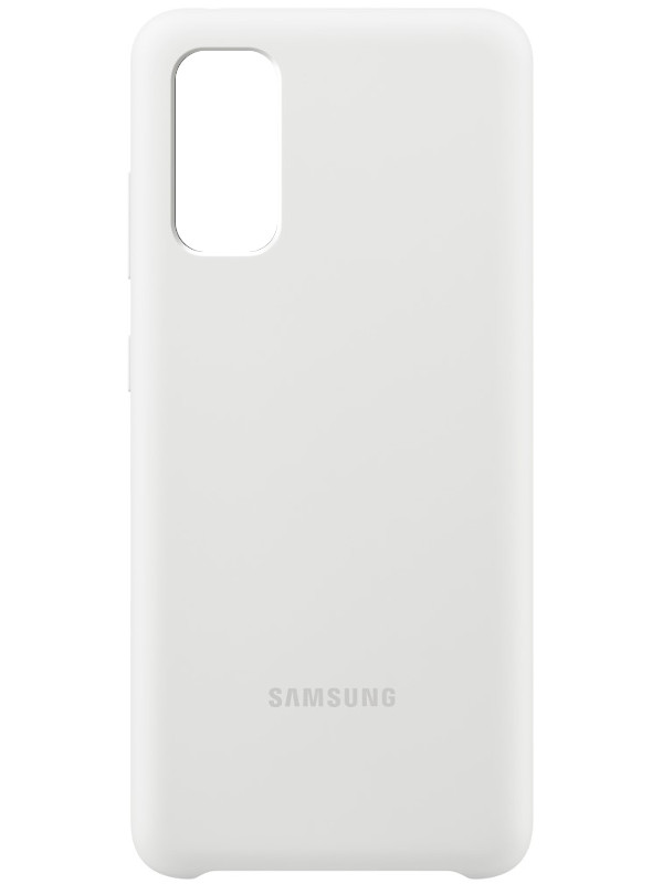 Чехол для Samsung G980 Galaxy S20 Silicone Cover White EF-PG980TWEGRU чехол для сотового телефона samsung galaxy note 8 clear cover violet ef qn950cvegru