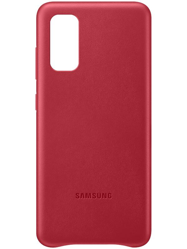 Чехол для Samsung G980 Galaxy S20 Leather Cover Red EF-VG980LREGRU аксессуар чехол samsung galaxy note 8 led view cover gold ef nn950pfegru