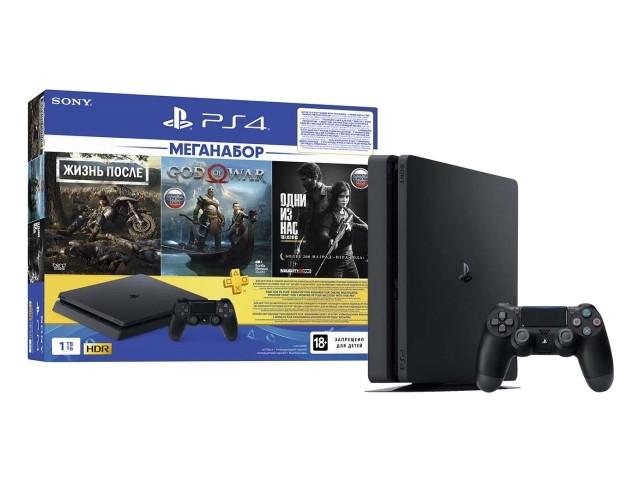 Игровая приставка Sony PlayStation 4 1Tb Black CUH-2208B + F DG/GOW/TLOU/PS+3M PS719350002 Выгодный набор серт. 200Р!!!