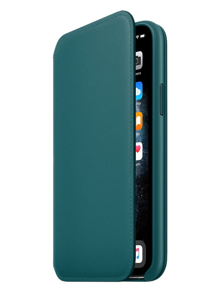 Чехол для APPLE iPhone 11 Pro Leather Folio Peacock MY1M2ZM/A