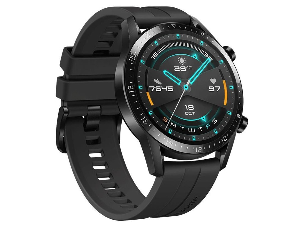 Умные часы Huawei Watch GT 2 Matte Black / Fluoroelastomer 55024335 Выгодный набор + серт. 200Р!!!