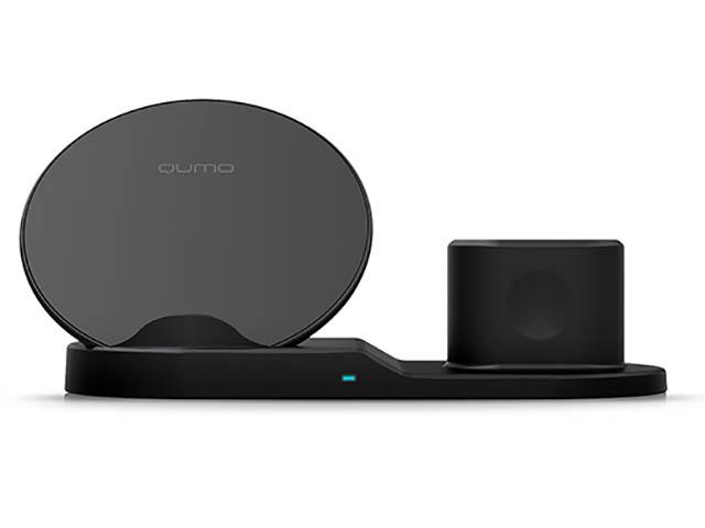 Зарядное устройство Qumo PowerAid Qi iTrio 2 Wireless Charging Station Charger 0040 30542