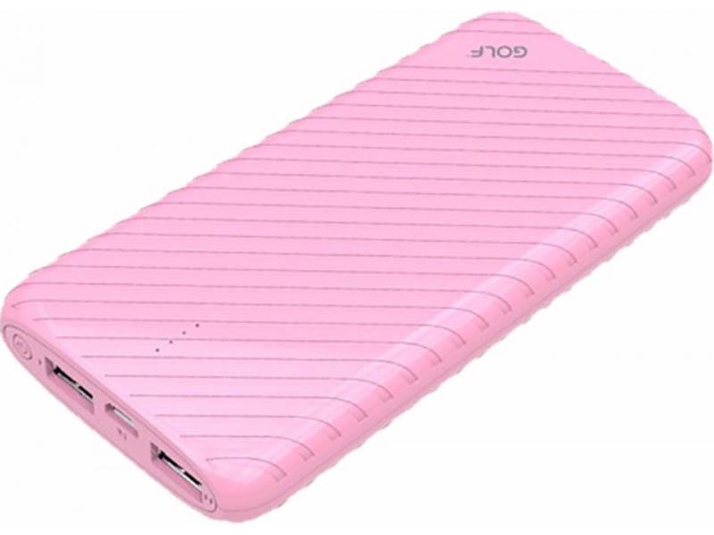 Внешний аккумулятор Golf Edgee Power Bank G17 8000mAh Pink