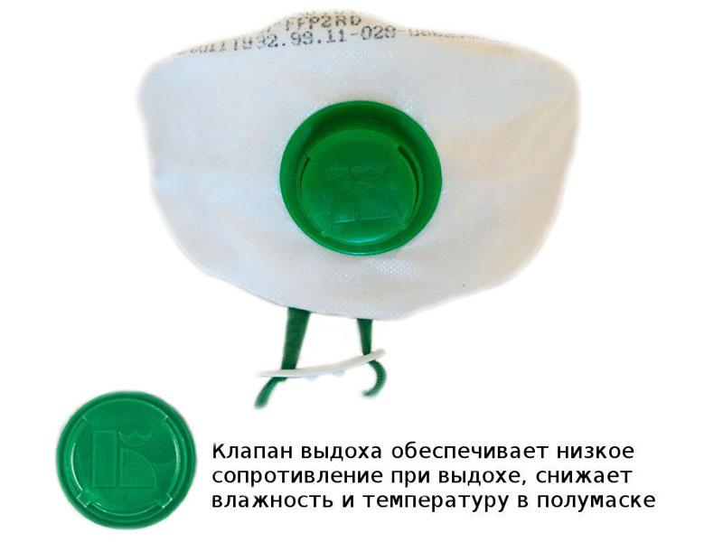 Защитная маска Лепесток 40 АВ СБ класс защиты FFP2 (до 12 ПДК)
