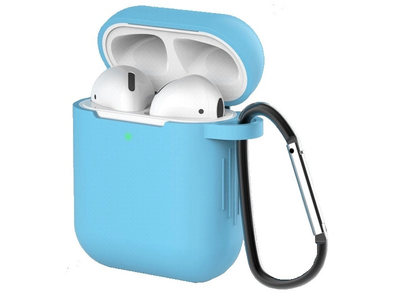 Чехол Eva для APPLE AirPods 1/2 Light Blue CBAP40LBL
