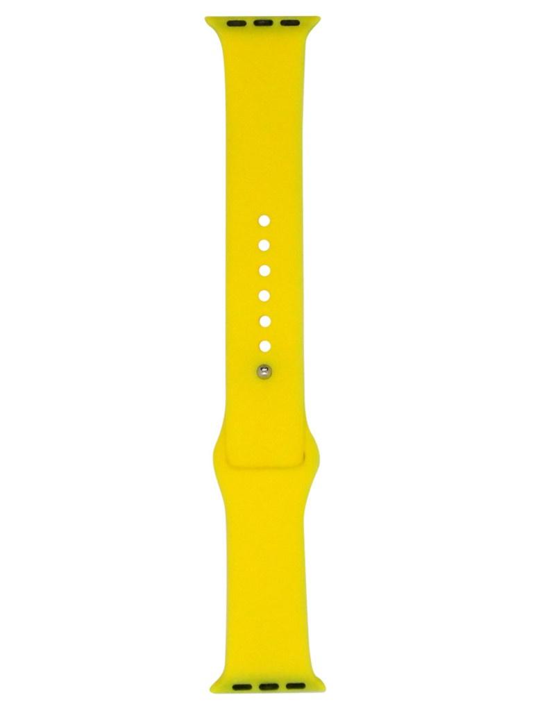 Аксессуар Ремешок Eva Silicone для APPLE Watch 42/44mm Yellow AWA001Y