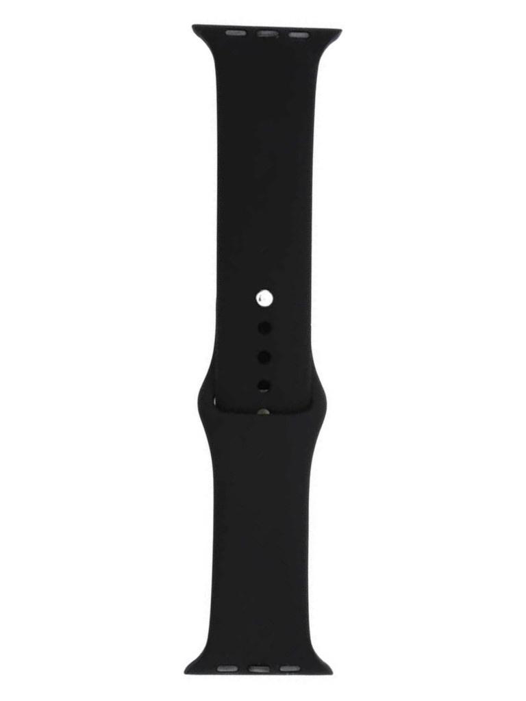 Аксессуар Ремешок Eva Silicone для APPLE Watch 42/44mm Black AWA001B
