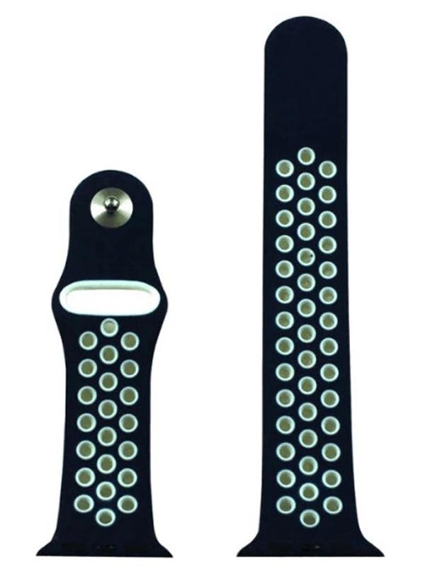 Аксессуар Ремешок Eva Nike для APPLE Watch 42/44mm Blue-White AWA012BW