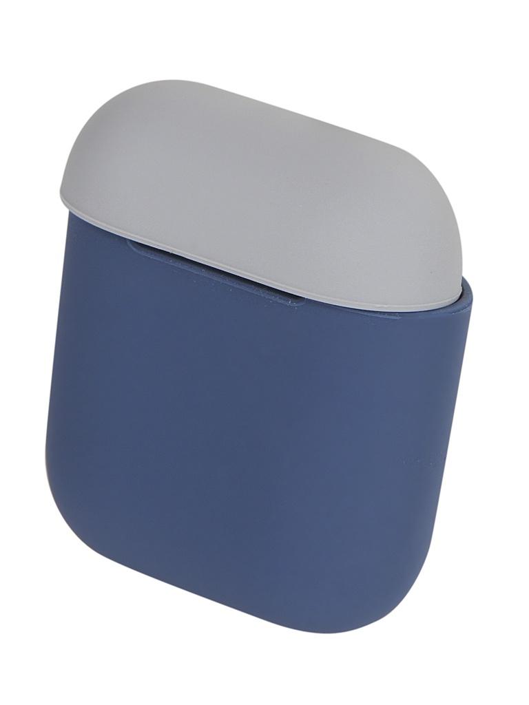 Чехол Eva для APPLE AirPods 1/2 Blue-Grey CBAP03 крепление для airpods earhook nightglow blue 2 шт