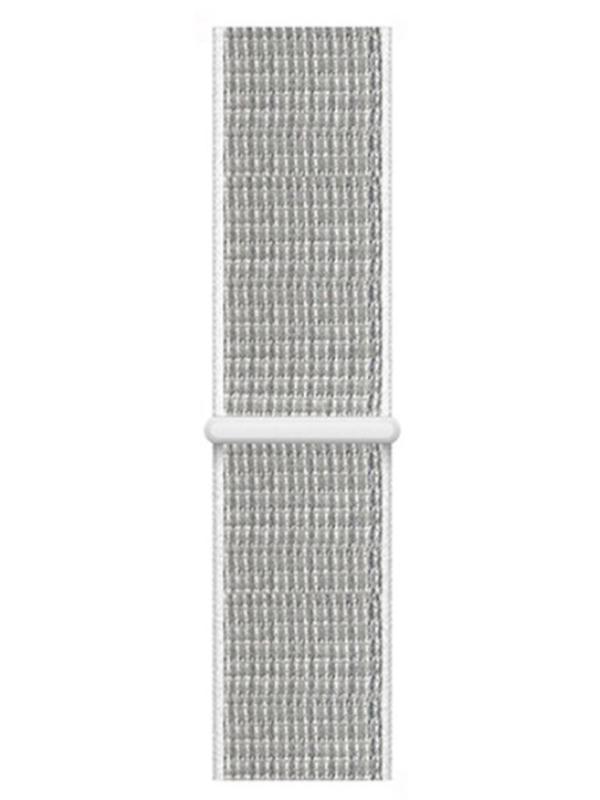 Аксессуар Ремешок Eva Nylon для APPLE Watch 38/40mm Grey-White AVA009WS