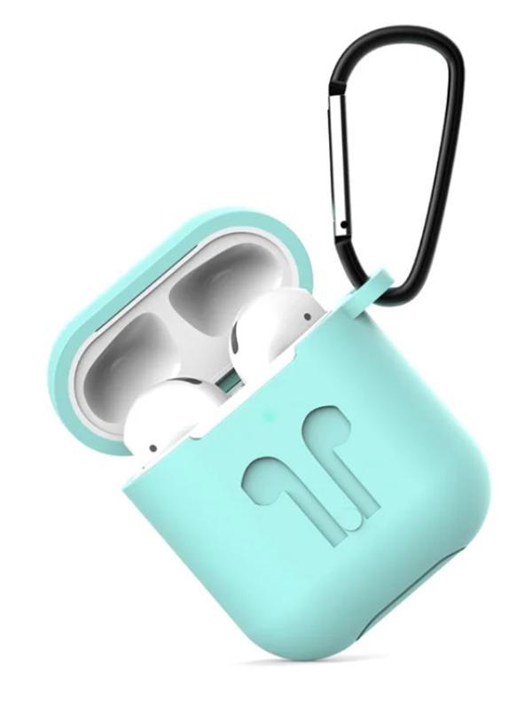 Чехол Eva для APPLE AirPods 1/2 Turquoise CBAP01TQ