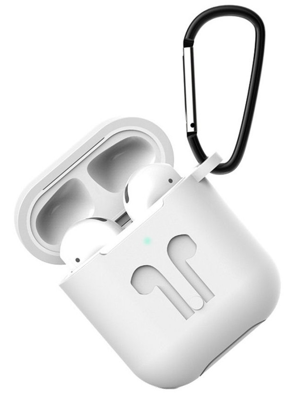 Чехол Eva для APPLE AirPods 1/2 White CBAP01