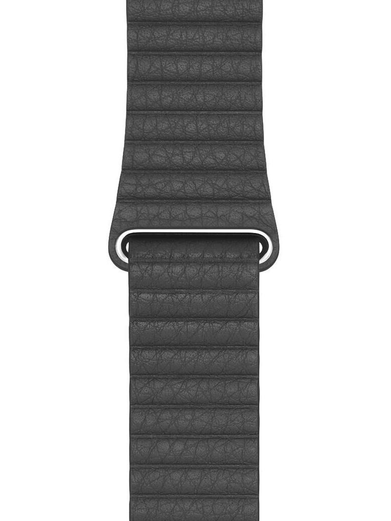 Аксессуар Ремешок Eva натуральная кожа для APPLE Watch 38/40mm Black AVA008B
