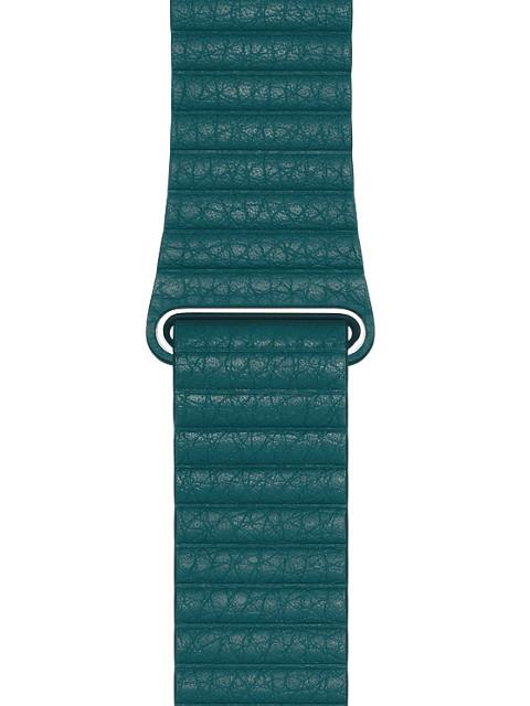 Аксессуар Ремешок Eva натуральная кожа для APPLE Watch 42/44mm Dark Green AWA008GR
