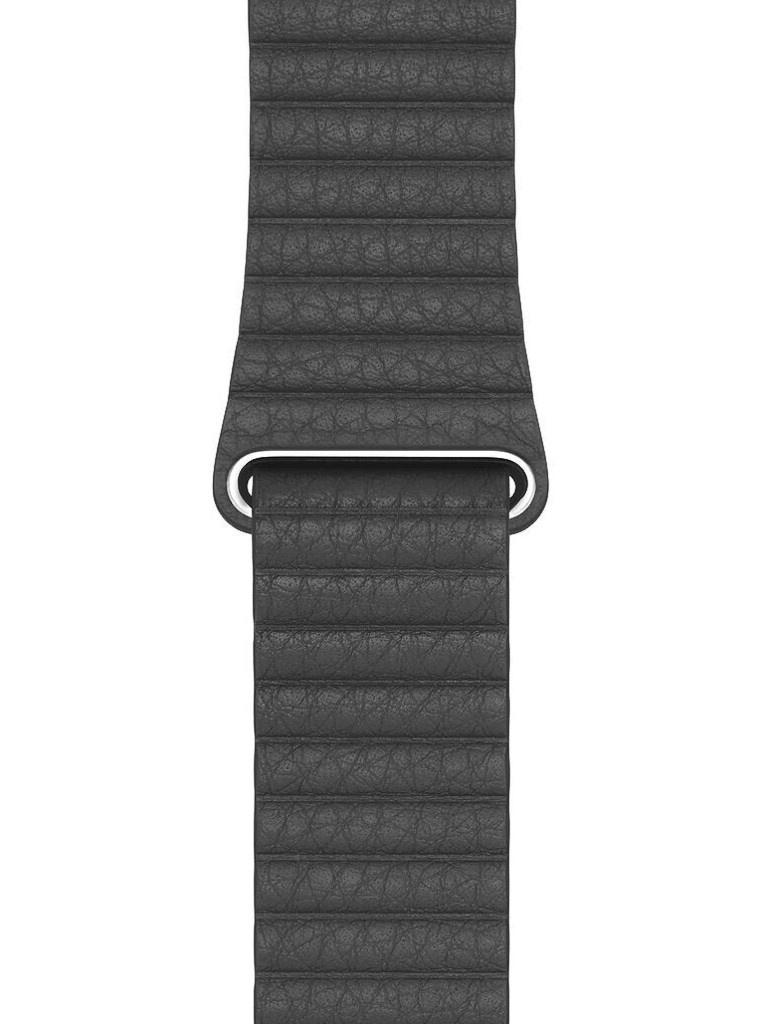 Аксессуар Ремешок Eva натуральная кожа для APPLE Watch 42/44mm Black AWA008B