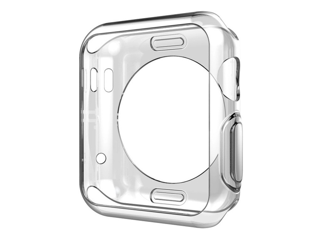 Аксессуар Чехол Eva Silicone для APPLE Watch 44mm Transparent ADC005T