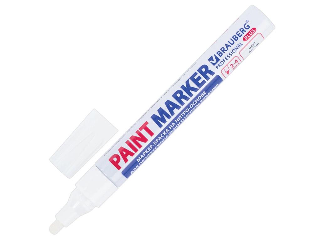 Маркер Brauberg Professional Plus Paint Marker 4mm White 151444