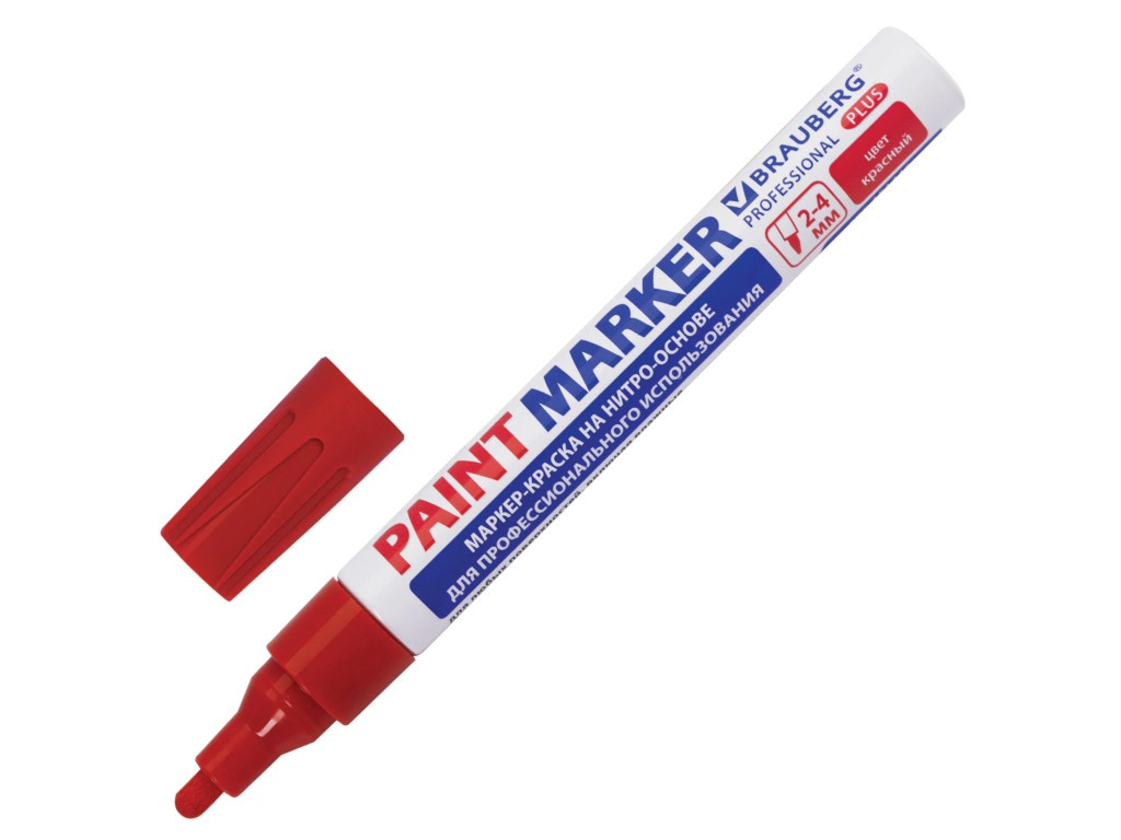 Маркер Brauberg Professional Plus Paint Marker 4mm Red 151446
