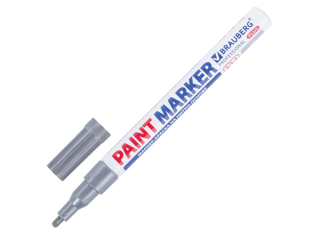 Маркер Brauberg Professional Plus Paint Marker 2mm Silver 151442