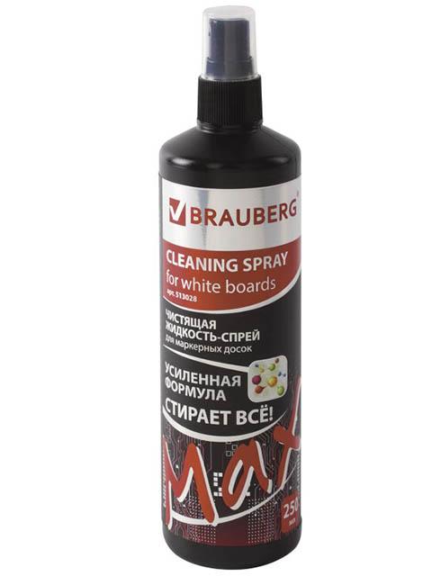 Чистящая жидкость-спрей для маркерных досок Brauberg Turbo Max 250ml 513028