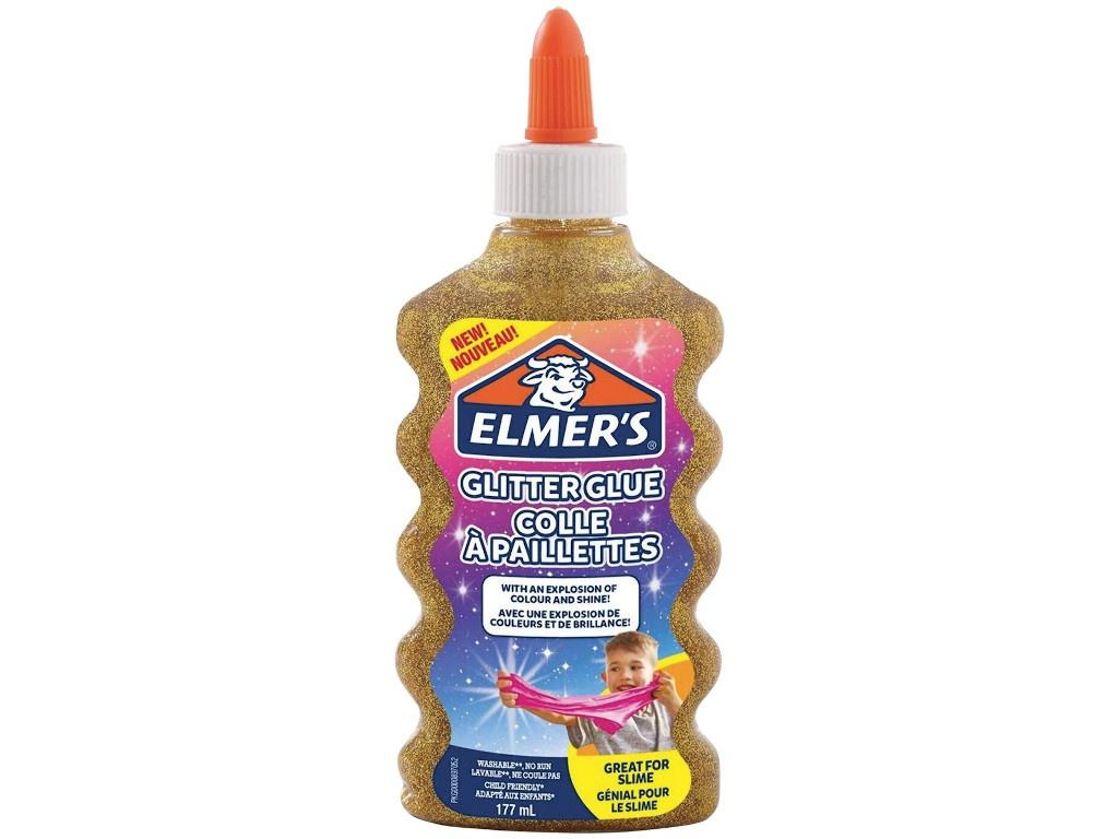 Слайм Elmers Glitter Glue для слаймов с блестками 177ml Gold 2077251