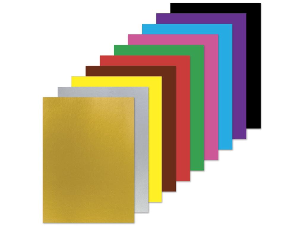Цветная бумага Brauberg Единорог А4 2-сторонняя 16 листов 10 цветов офсетная 129922