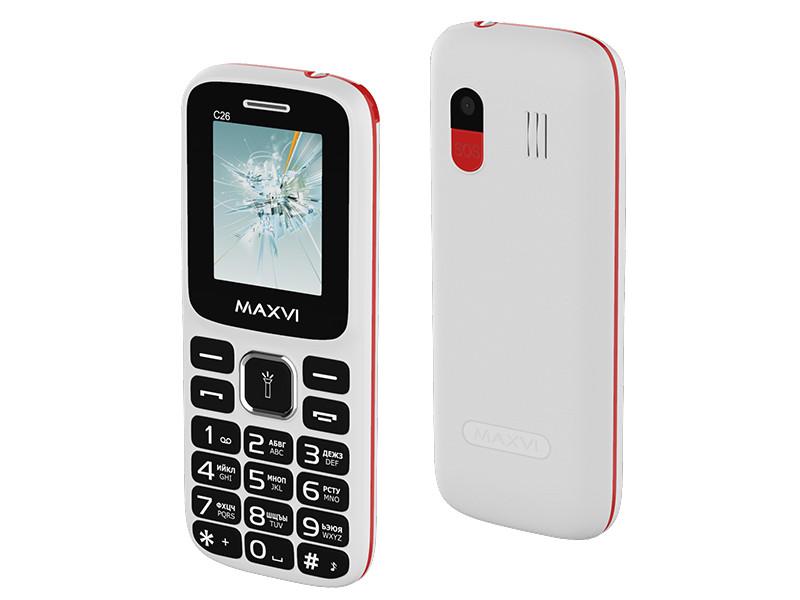 Сотовый телефон MAXVI C26 White-Red сотовый