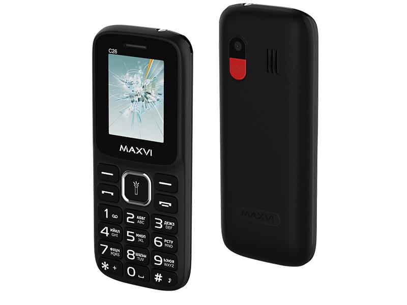 Сотовый телефон Maxvi C26 Black сотовый телефон maxvi c25 black