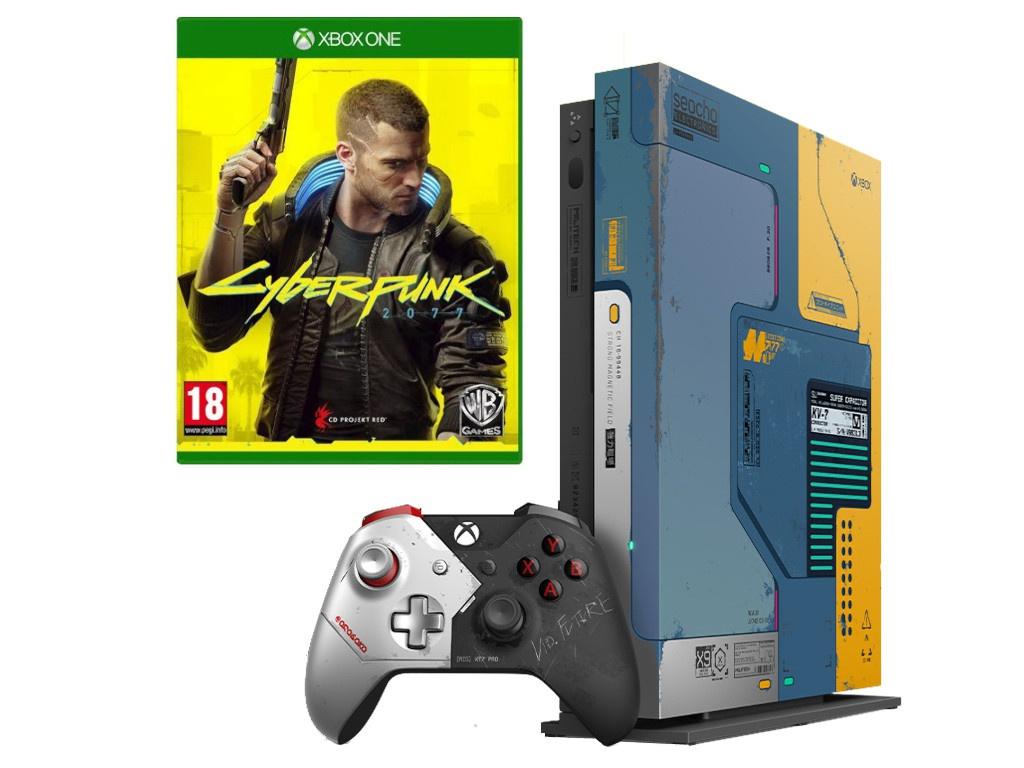 Игровая приставка Microsoft Xbox One X 1Tb + Cyberpunk 2077 FMP-00254