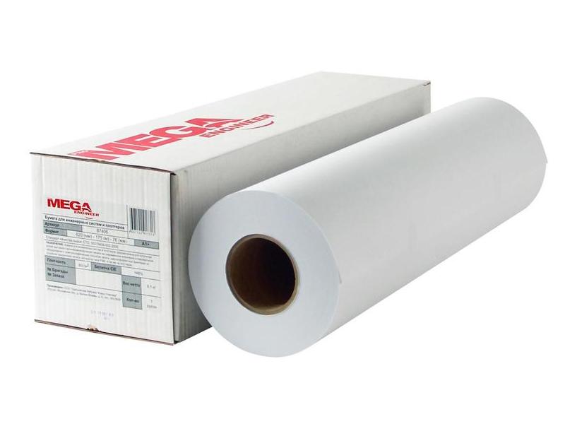Бумага широкоформатная ProMega Engineer 620x76mm 175m 80g/m2 87406