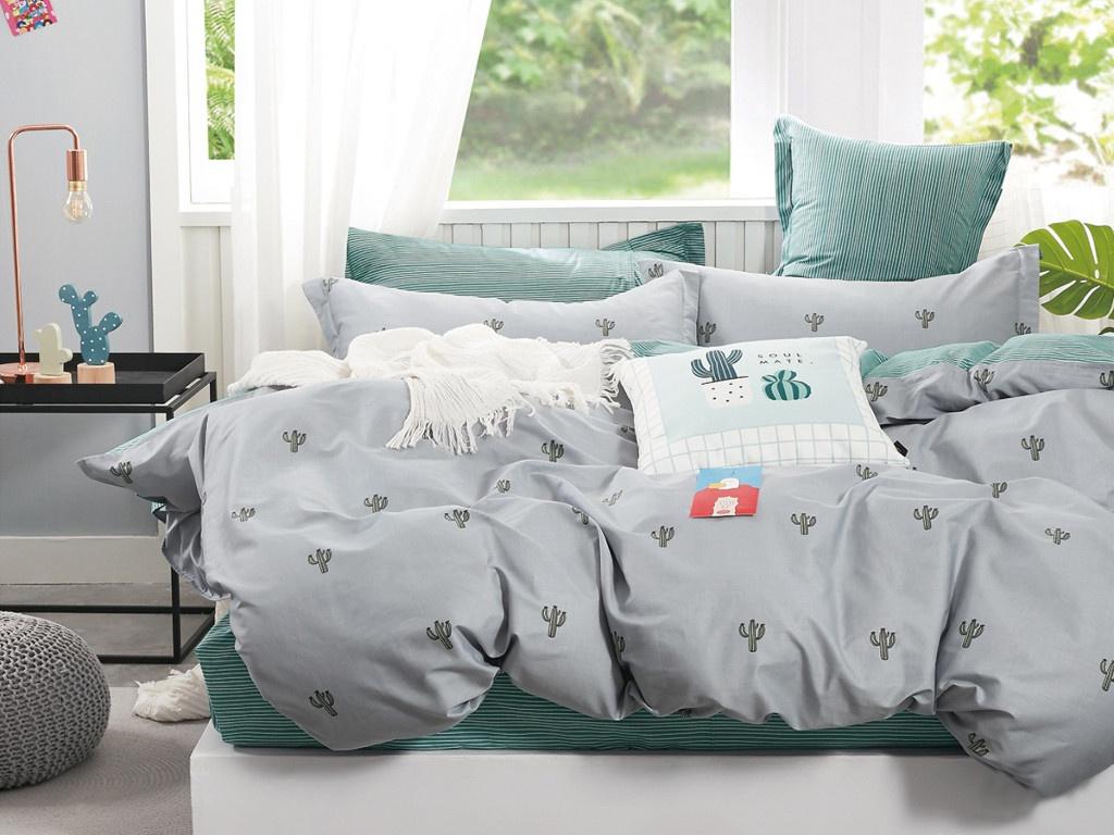 Постельное белье Cleo Satin Lux 20/499-SL Комплект 2 спальный Сатин покрывало cleo home cleo home mp002xu02l2r