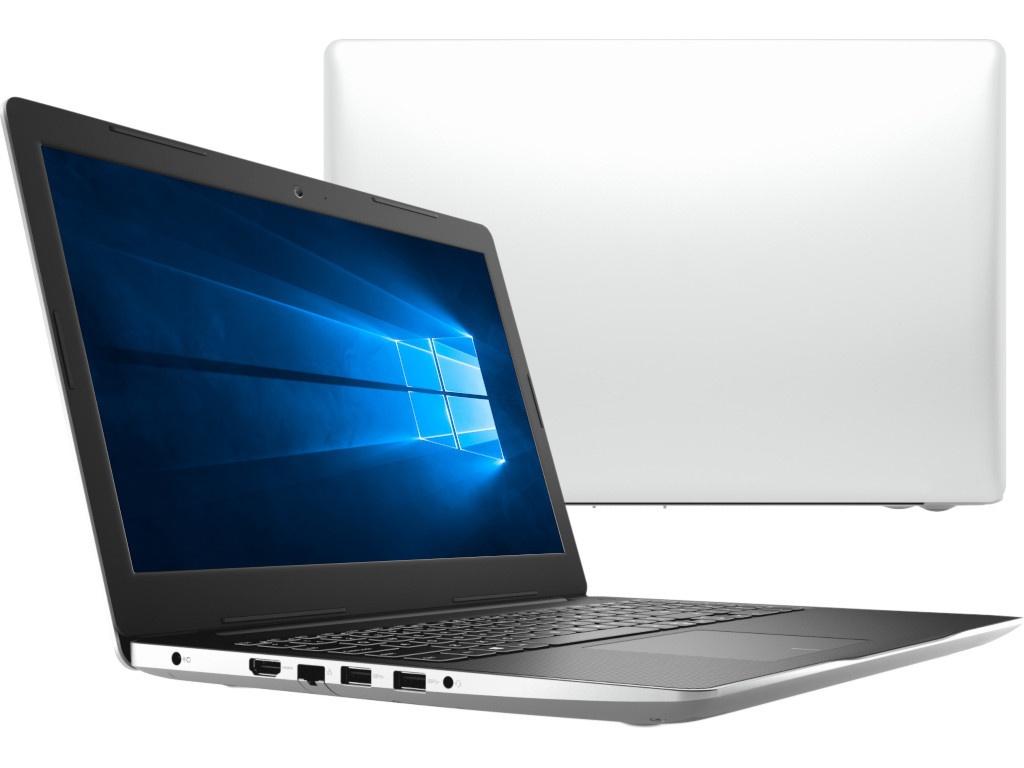Ноутбук Dell Inspiron 3585 White 3585-7126 (AMD Ryzen 3 2300U 2.0 GHz/4096Mb/128Gb SSD/DVD-RW/AMD Radeon Vega 6/Wi-Fi/Bluetooth/Cam/15.6/1366x768/Windows 10 Home 64-bit) ноутбук hp pavilion 15 cw0002ur 4gq29ea amd ryzen 3 2300u 8gb 1tb amd vega 6 15 6 fullhd win10 burgundy