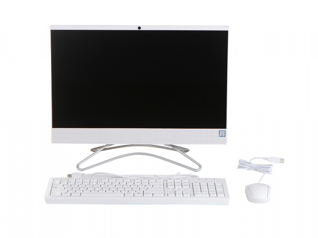 Моноблок HP 22-c0160ur White 8XN60EA (Intel Core i3-9100T 3.1 GHz/4096Mb/1000Gb + 16Gb SSD/nVidia GeForce MX110 2048Mb/Wi-Fi/Bluetooth/Cam/21.5/1920x1080/Windows 10 Home 64-bit) ноутбук hp 15 da0188ur 4mt69ea intel core i3 7020u 2 3 ghz 4096mb 128gb ssd no odd nvidia geforce mx110 2048mb wi fi bluetooth cam 15 6 1920x1080 windows 10
