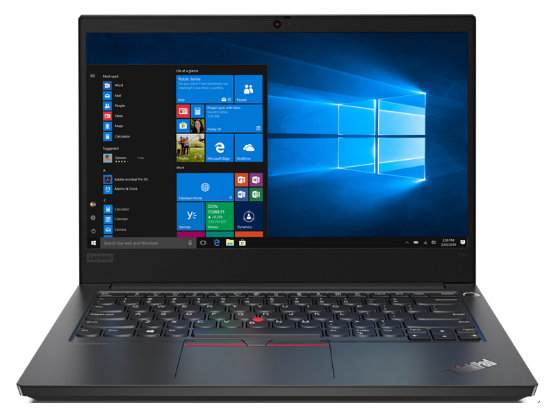 Ноутбук Lenovo ThinkPad E14 Black 20RA002RRT (Intel Core i5-10210U 1.6 GHz/8192Mb/1000Gb/Intel HD Graphics/Wi-Fi/Bluetooth/Cam/14.0/1920x1080/DOS)