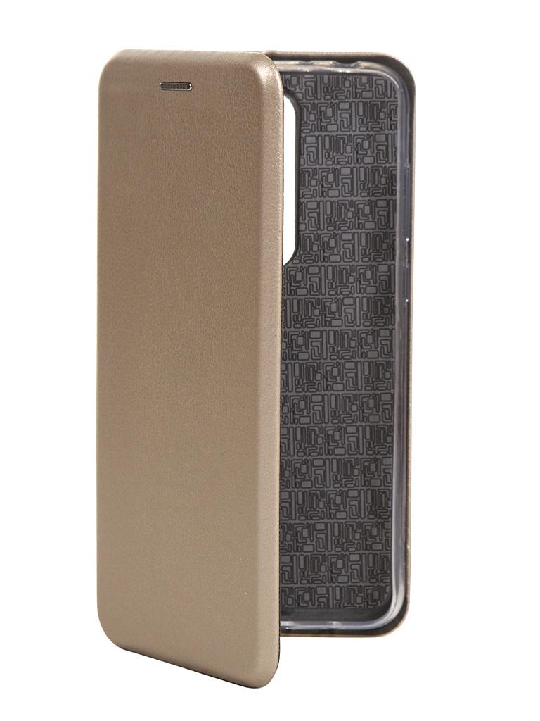 Чехол для BQ BQ-5732L Aurora SE экокожа + Silicone Gold
