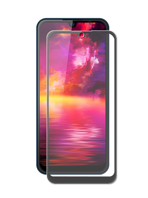 цена на Защитное стекло для BQ BQ-6040L Magic 2.5D Full Glue Black Frame